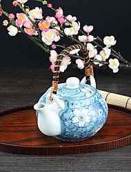 Japanese High Temperature Porcelain Sakura Flower Teapot