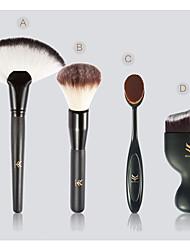 4pcs/Set Make Up Brush Foundation Brush Wood Plastic Handle Makeup Eyeshadow Cosmetic Blush Brush Set Maquiagem
