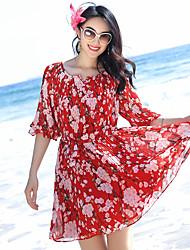 station balnéaire robe de plage jupe en mousseline de soie robe bohème était mince robe de plage, thaïlande
