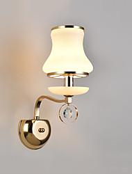 E14 moderna / contemporânea galvanizada recurso para crystalambient parede luz parede apliques