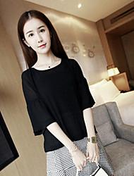 Spot ~ spring women&# 39; s nouveau doux à trois couleurs doux bague manches en mousseline blouse blouse semi-perméable