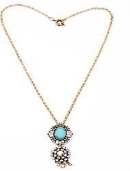 Femme Pendentif de collier Forme Ovale Original euroaméricains Bijoux Pour Quotidien Regalos de Navidad