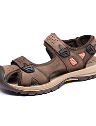 Men's Shoes Libo New Style Hot Sale Leather Outdoors / Casual Comfort Classic Sandals Yellow / Army Green / Coffee