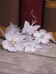 Tela de penas cabeça-casamento ocasião especial clipe de cabelo casual casual 1 peça