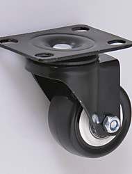 2 Inch Universal Wheel Wearable Casters Black Casters Office Chair Wheels Casters PVC
