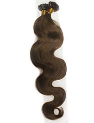 100 g / pacote u prego ponta fusão onda extensões de cabelo corpo queratina de vara do cabelo humano brasileiro # 1b preto # 8 # 613