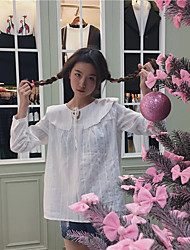 Take a real shot in spring 2017 within the new cotton shirt collar long-sleeved lace doll