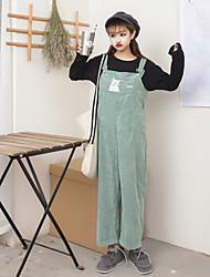 signer un pantalon lâche coréen bande dessinée en velours côtelé jambes larges salopettes collants pantalons pantalons décontractés
