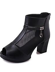 Women's Heels Spring Summer Fall Comfort PU Casual Low Heel