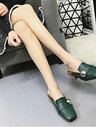 Femme-Décontracté-Blanc Noir Vert-Gros Talon-Confort-Sabots & Mules-Polyuréthane