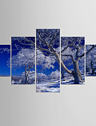 Photographic Print Landscape Modern,Five Panels Canvas Any Shape Print Wall Decor For Home Decoration