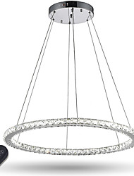 Dimmable Round Ring LED Crystal Pendant Light Ceiling Chandeliers Light Indoor Lighting Fixtures with Remote Control