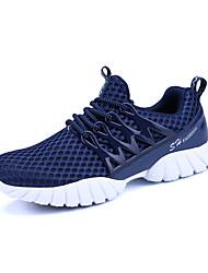 Homme-Extérieure Décontracté Sport-Noir Gris Bleu marine-Talon Plat-Confort couple Chaussures-Baskets-Tulle