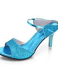 Women's Heels Summer T-Strap Leatherette Outdoor Party & Evening Dress Stiletto Heel Sequin Walking