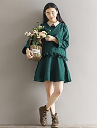 modèle photo couleur réelle de succès littéraire féminine jupe grande robe volantée jupe oreille bois doux