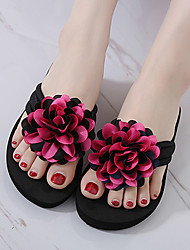 Women's Slippers & Flip-Flops Summer Comfort Fabric Casual Flat Heel Flower