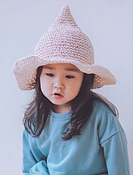 Girl's Lovely Fashionable Elegant Big Beach Hat Brim Hat Witch Pointed Shading Bask In A Straw Hat