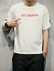 Summer men's letters printed short-sleeved T-shirt Japanese model