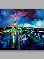 IARTS Modern Abstract Landscape Painting The Golden Eiffel Tower Oil Painting Wall Art For Home Decoration