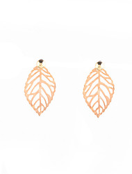 Non Stone Leaf Stud Earrings Jewelry Unique Design Euramerican Personalized Daily Casual Alloy 1 pair