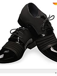 Для женщин Ботинки С Т-образной перепонкой Резина Весна Повседневные Для прогулок С Т-образной перепонкой На плоской подошве ЧерныйНа