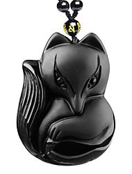 Damen Anhängerketten Obsidian Tierform Krystall Religiös Hip-Hop Rock Modisch Punkstil Einstellbar Schwarz Schmuck FürParty Halloween