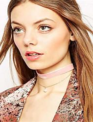 Mujer Gargantillas Collares con colgantes Obsidiana Joyas Perla Artificial Cobre Colgante Perla Artificial Moda Estilo lindo Euramerican