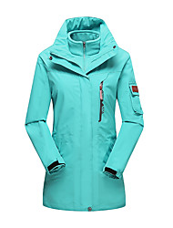 Women's 3-in-1 Jackets Waterproof Thermal / Warm Windproof Dust Proof Breathable Double Sliders 3-in-1 Jackets Woman's Jacket Winter