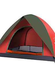3-4 persons Tent Camping Tent Well-ventilated Portable-Camping-Red Dark Blue