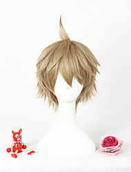 Short light brown l'animation yayoi haru cosplay perruque synthétique 12inch anime perruque cs-297e