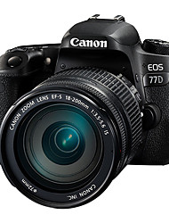 Canon® EOS 77D EF-S 18-200mm f/3.5-5.6 IS SLR Digital Camera 1080P NFC WiFi Tiltable LCD Black 3.0