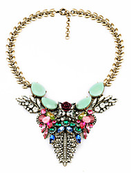 Women's Strands Necklaces Leaf Chrome Euramerican Fashion Jewelry For Wedding Congratulations 1pc
