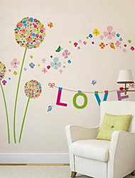 Cartoon Florals Wall Stickers Plane Wall Stickers Decorative Wall Stickers,Vinyl Material Home Decoration Wall Decal