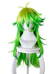 Косплэй парики Косплей Косплей Желтый Зеленый Длиные Аниме Косплэй парики 80 См Термостойкое волокно