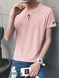 Manga larga del cortocircuito del collar del color sólido del verano el spandex del algodón del viento del aberdeen del t xu del 95% el 5%