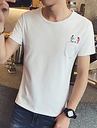 homens&# 39; s bolso da camisa de mangas curtas impressão masculina t-shirt de manga curta café