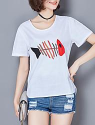 unterzeichnen Leinen 2017 Sommerfrauen&# 39; s bestickte Ärmel Baumwolle T-Shirt der losen großen Yards Kurzarm-Shirt mitfühlend