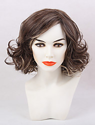 Ethereal Enchanting  Partial Fringe Medium Long Curly Hair Synthetic Wig