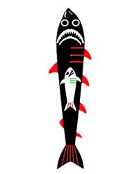 kites Tubarão Animal Náilon Clássico e Intemporal Unisexo 5 a 7 Anos 8 a 13 Anos