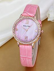 Women's Fashion Watch Quartz Leather Band Pink