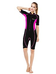 Mulheres Térmico/Quente Resistente Raios Ultravioleta Nailom Neoprene Fato de Mergulho Meia Manga Roupas de Mergulho-Mergulho Surfe
