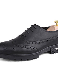 Men's Oxfords Spring Fall Gladiator Creepers Formal Shoes Comfort Bullock shoes Leather Wedding Office & Career Party & Evening CasualLow