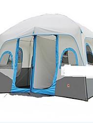 > 8 pessoas Duplo Dois Quartos Barraca de acampamentoEquitação Campismo Viajar-Cinzento