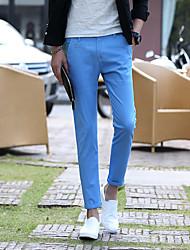 pantalon mâle pieds collants korean pantalon slim étirent pantalon mince neuf points hommes angleterre&# 39; un pantalon décontracté