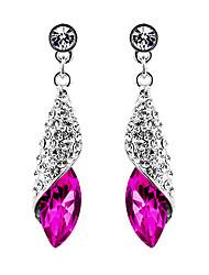 Boucles d'oreille goutte Bijoux Fantaisie Elegant Mode Cristal Alliage Goutte Bijoux Pour Soirée Anniversaire Quotidien 1 Paire