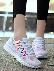 Women's Mesh Sneakers Athletic Shoes Spring Summer Fall Comfort Nylon Tulle Outdoor Athletic Casual Low Heel Lace-up Running
