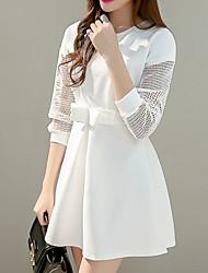 Signe hitz version coréenne de slim un mot arc creux à manches longues robe princesse punta