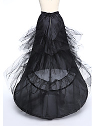 Slips A-Line Slip Tea-Length 3 Taffeta Tulle White Black