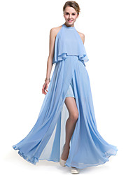 SUOQI Women's Ruffle/Off The Shoulder Plus Size Women Dresses Solid Color Bohemian Beach Dress Swing Open Fork Chiffon Dress