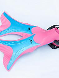 Diving Fins Long Blade Diving / Snorkeling Red